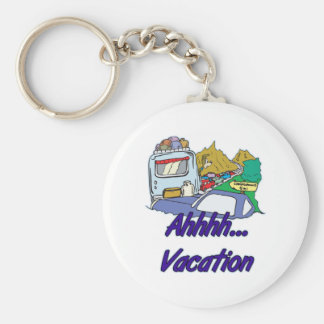 Ahh Vacation Camping Keychain