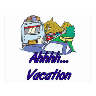 Ahh Vacation Camping Postcards