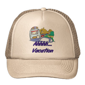 Ahh Vacation Camping Trucker Hat