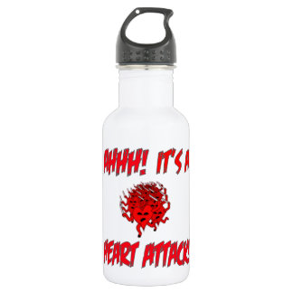 AHHH! It's A Heart Attack! 18oz Water Bottle