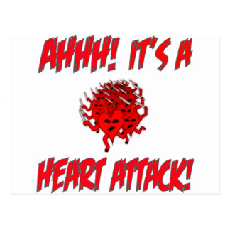 AHHH! It's A Heart Attack! Postcard