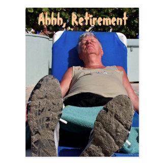 Ahhh, Retirement postcard