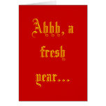 Ahhh, un año fresco… tarjeta de felicitación