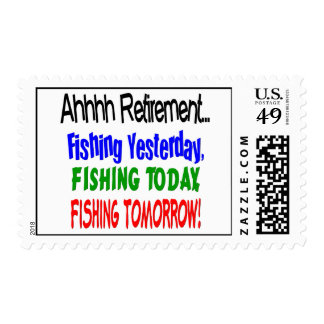 Ahhhh retirement fishing  today.... postage stamp