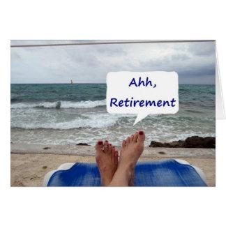 ¡AHHHH, RETIREMENT=GOOD PARA U! TARJETAS