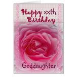 AHIJADA - cumpleaños feliz del xxth - color de ros Felicitación