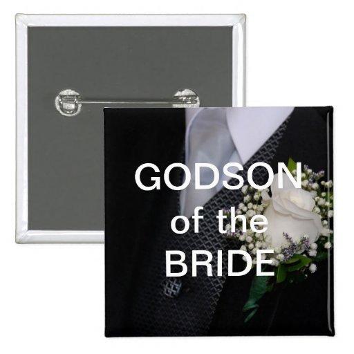 Ahijado de la novia pin