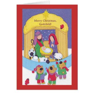 Ahijado de las Felices Navidad Tarjeta De Felicitación