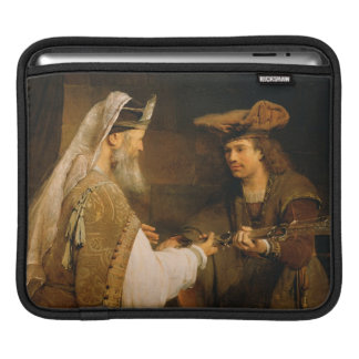 Ahimelech giving the sword of Goliath to David iPad Sleeve