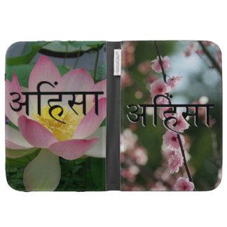 Ahimsa Cherry Blossom & Lotus Kindle Case