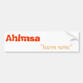 "Ahimsa, ""daño ningunos "" pegatina para auto"