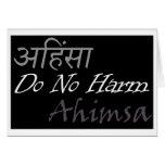 Ahimsa Greeting Card