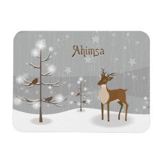 Ahimsa Holiday Reindeer Magnet