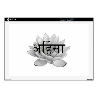 "Ahimsa Lotus Flower 17"" Laptop Skins"