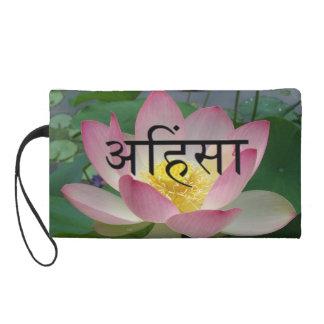 Ahimsa Lotus Flower Wristlet Clutch