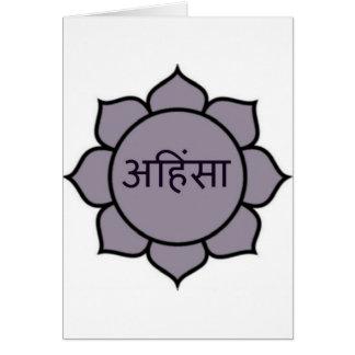 ahimsa (lotus).jpg greeting card