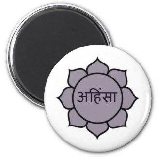 ahimsa (lotus).jpg magnet