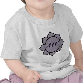 ahimsa (lotus).jpg t shirts