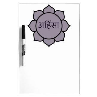 Ahimsa Lotus Purple Dry-Erase Boards