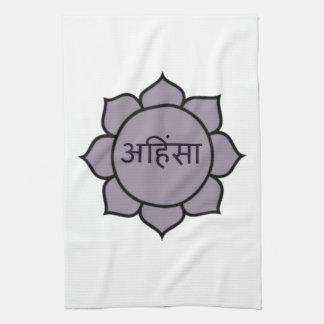 Ahimsa Lotus Purple Towel