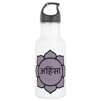 Ahimsa Lotus Purple 18oz Water Bottle