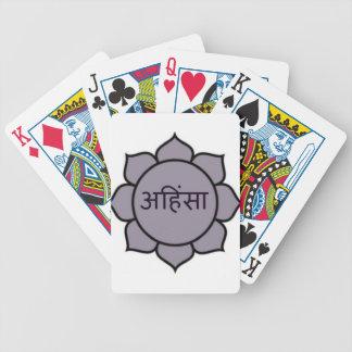 Ahimsa Lotus Purple Deck Of Cards
