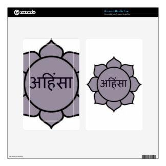 Ahimsa Lotus Purple Kindle Fire Decal