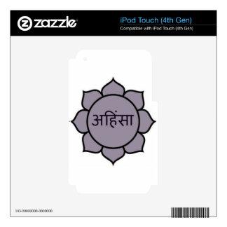 Ahimsa Lotus Purple Decal For iPod Touch 4G