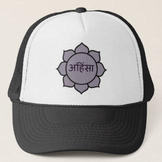 Ahimsa Lotus Purple Trucker Hat