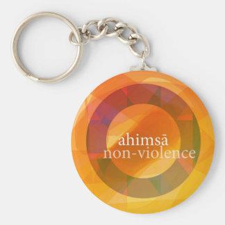 ahimsā - no-violencia llavero personalizado