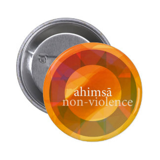 ahimsā - non-violence buttons