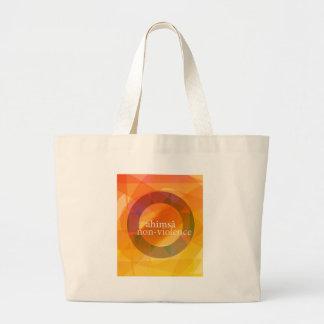 ahimsā - non-violence large tote bag
