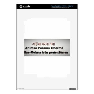 Ahimsa Paramo Dharma, AHINSA , SANSKRIT MANTRA Skins For iPad 3
