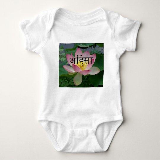 ahimsa vegan baby bodysuit