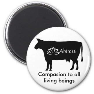 Ahimsa Vegan Fridge Magnet