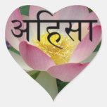 ahimsa vegan heart sticker