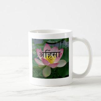 ahimsa vegan coffee mug
