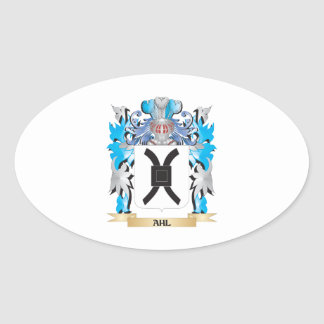 Ahl Coat Of Arms Oval Sticker
