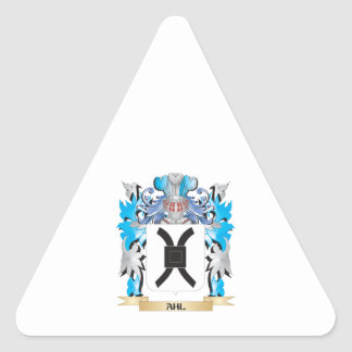 Ahl Coat Of Arms Triangle Sticker