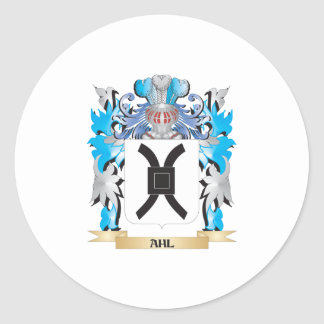 Ahl Coat Of Arms Round Stickers