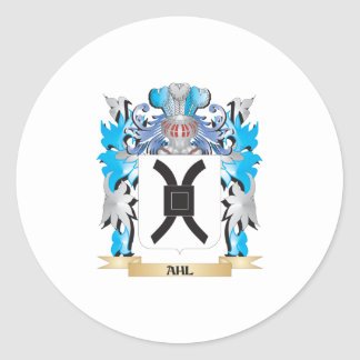 Ahl Coat Of Arms Round Sticker