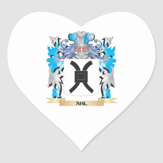Ahl Coat Of Arms Heart Sticker