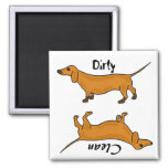 AHL- Dirty Paws dachshund Magnet