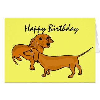 AHL- Happy Birthday Dachshund Cards