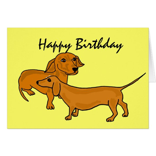 AHL- Happy Birthday Dachshund Cards
