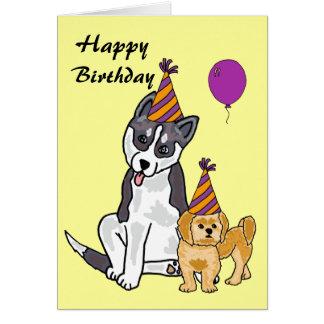 AHL- happy Birthday Husky Card
