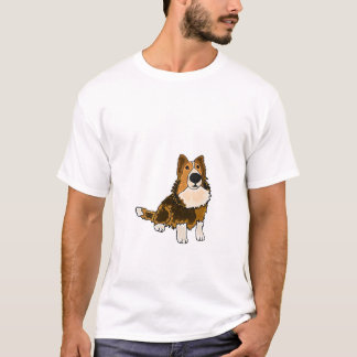 AHL- Sheltie Dog Cartoon Shirt