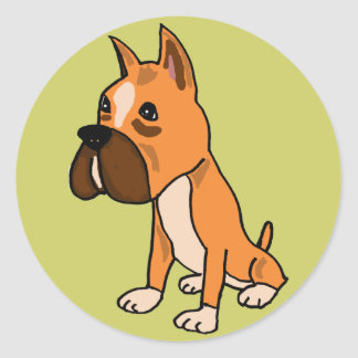 AHL- Stickers with Cute Boxer Dog
