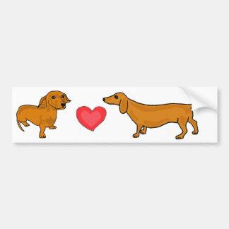 AHL- Wiener Love bumper Sticker Car Bumper Sticker