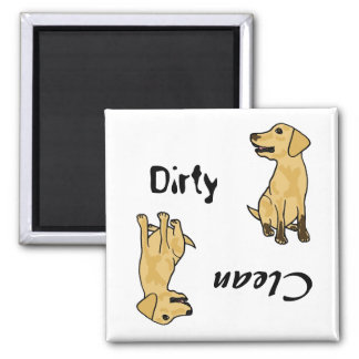 AHL- Yellow Labrador Dirty Paws Magnet